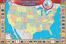 U.S. Map (Repositionable) Bulletin Board Display Set