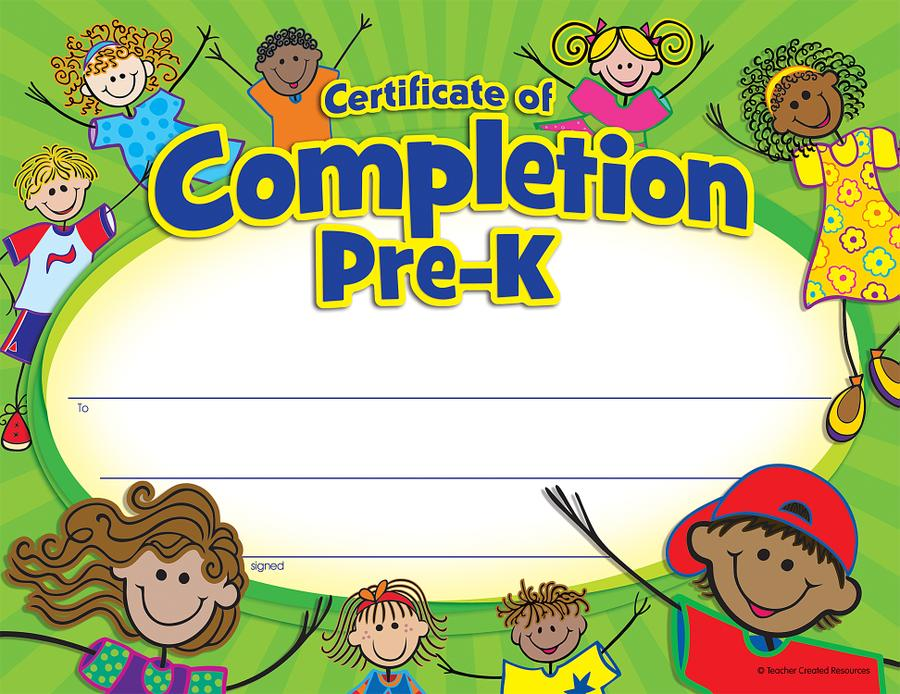 PreK Certificate of Completion