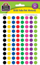 Colorful Circles Mini Stickers Valu-Pak