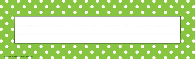 Lime Polka Dots Name Plates (flat)