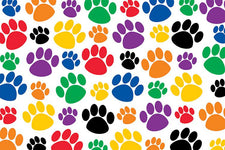 Colorful Paw Prints Postcards