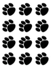 Black Paw Prints Mini Accents