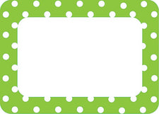 Lime Polka Dots 2 Name Tags