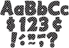 "Black Polka Dots Funtastic 4"" Letters Combo Pack"