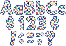 "Colorful Paw Prints Funtastic 4"" Letters Combo Pack"