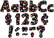 "Colorful Circles Funtastic 4"" Letters Combo Pack"
