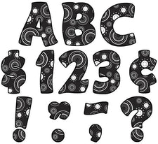 "Crazy Circles Funtastic 4"" Letters Uppercase Pack"