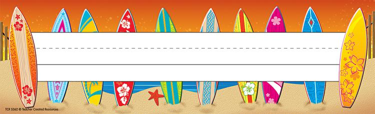 Surf's Up Name Plates (flat)