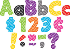 Chevron Funtastic 4 Inch Letters Combo Pack
