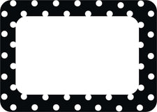 Black Polka Dots 2 Name Tags