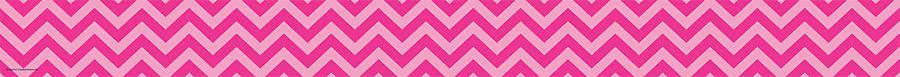 Hot Pink Chevron Straight Bulletin Board Border