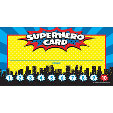 Teacher Created Resources Superhero Punch Cards