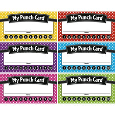 Teacher Created Resources Polka Dots Punch Cards