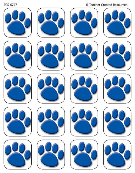 Blue Paw Prints Stickers