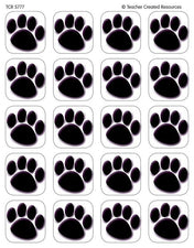 Black Paw Prints Stickers