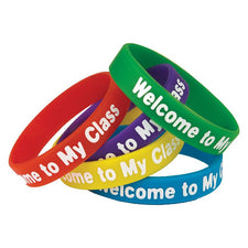 Welcome to My Class Wristbands, 10 Pack