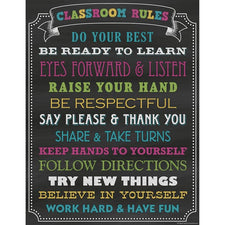 Teacher Created Resources Chalkboard Brights Classroom Rules Chart