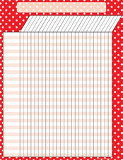 Red Polka Dots Incentive Chart