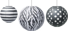 Paper Lanterns, Big Bold Black & White