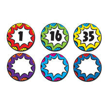 Superhero Numbers Magnetic Accents