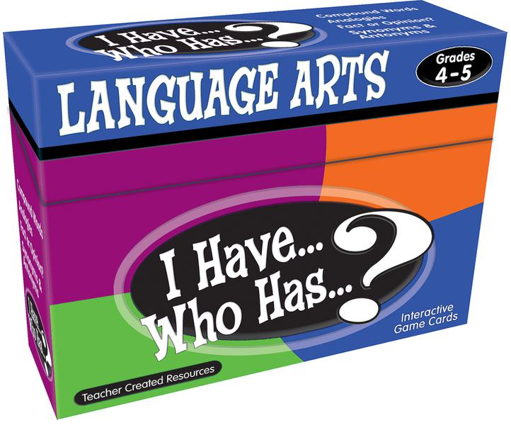 I Have, Who Has Language Arts Game Grade 4-5