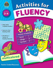 Teacher Created Resources Activities for Fluency Activity Book, Grades 3-4