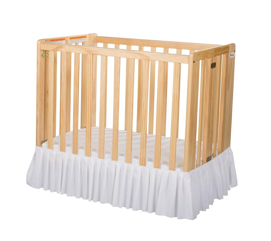 Bare is Best™ Dust Ruffle for Foundation's Compact Cribs, White (3 Pack)