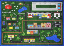"Tiny Town© Classroom Rug, 7'8"" x 10'9"" Rectangle Multi"