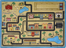 "Tiny Town© Classroom Rug, 7'8"" x 10'9"" Rectangle Sandstone"