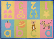 "Toddler Basics© Kid's Play Room Rug, 3'10"" x 5'4"" Rectangle Soft"