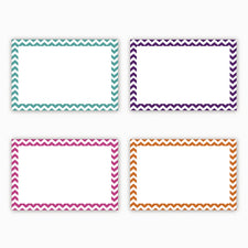 Top Notch Teacher Border Index Cards, 4 x 6 Blank, Chevron
