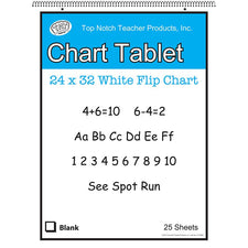 "White Chart Tablet, 24"" x 32"", Blank"