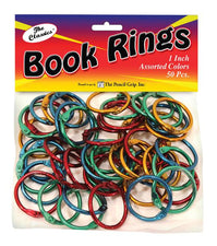 Book Rings Assorted Colors 50Pk