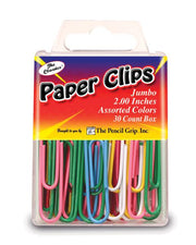 Jumbo Paper Clips, Assorted Colors