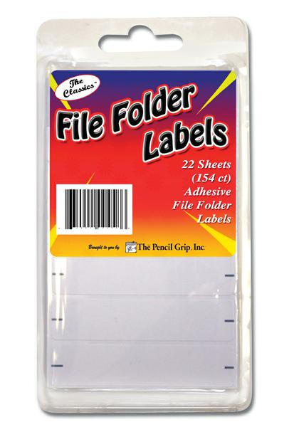 File Folder Labels 154 Count Clamshell