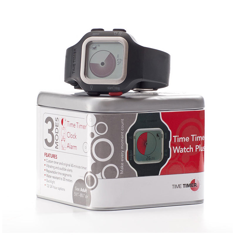 Time Timer Watch PLUS® Large, Charcoal