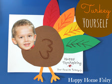 """Turkey Yourself!"" A DIY Thanksgiving Card Craft"