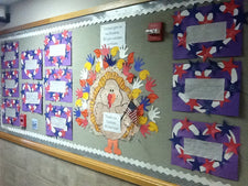 We Give Veterans Our Thanks! - Thanksgiving & Veteran's Day Display