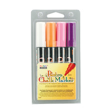 Bistro Fluorescent Chalk Markers, Set of 4 (White, Violet, Orange, Pink)
