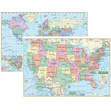 U.S. & World Wall Maps (Paper)