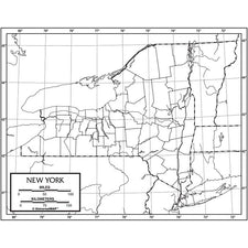 New York Outline Map, 50 Pack (Laminated)