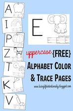 Uppercase Alphabet Color and Trace Worksheets (with FREE Printables!)