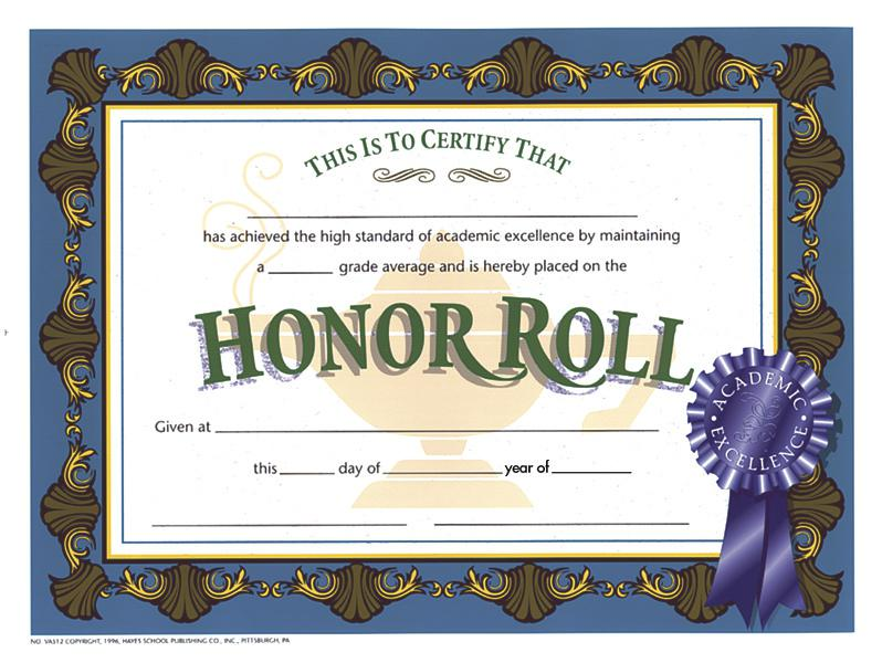 Honor Roll 1