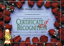 Certificate of Recognition 2