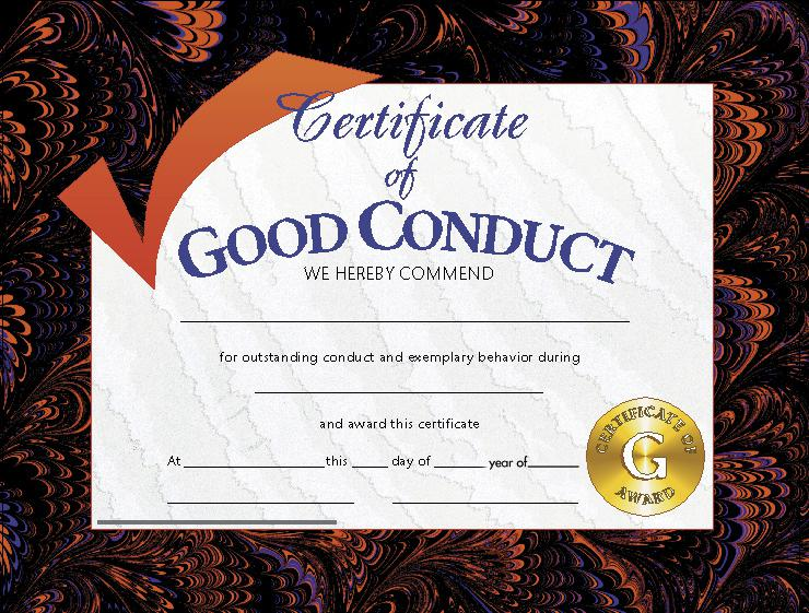 Good Conduct Award