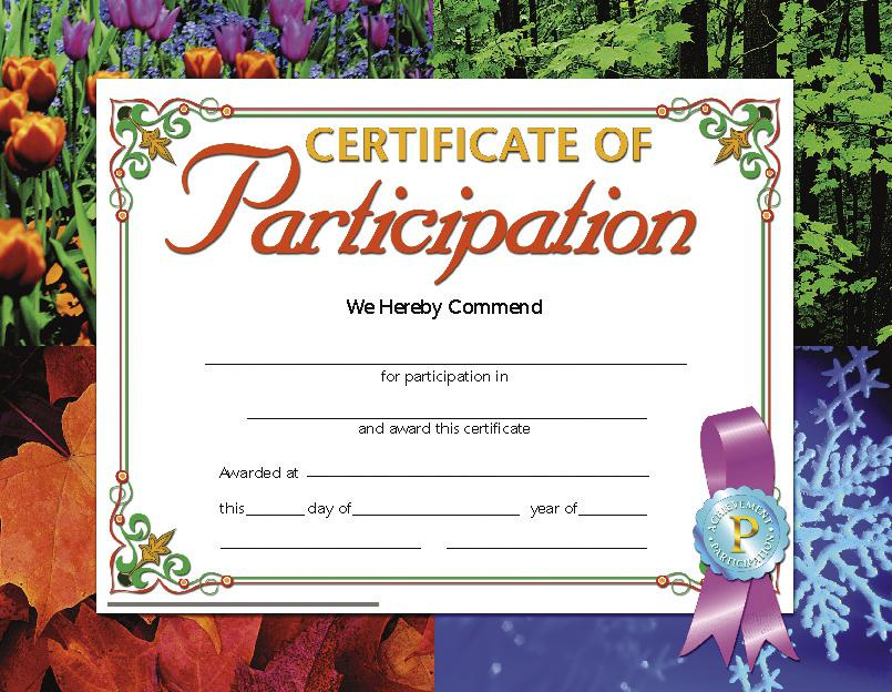 Certificate of Participation 1