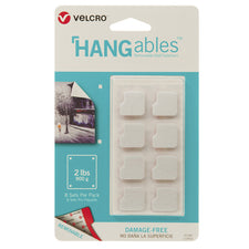 "VELCRO® Brand HANGables™ Removable Wall Fasteners, 3/4"" Squares (8 Count)"