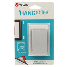 "VELCRO® Brand HANGables™ Removable Wall Fasteners, 1-3/4"" x 3"" (4 Count)"