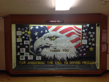 """Thank You For Answering The Call..."" Veterans Day Bulletin Board"