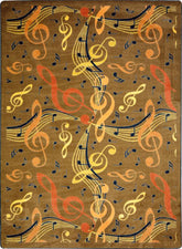 "Virtuoso© Classroom Rug, 7'8"" x 10'9"" Rectangle Brown"